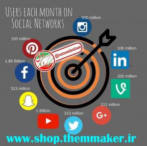 ماهانه چه تعداد از شبکه های اجتماعی بازدید می کنند ؟